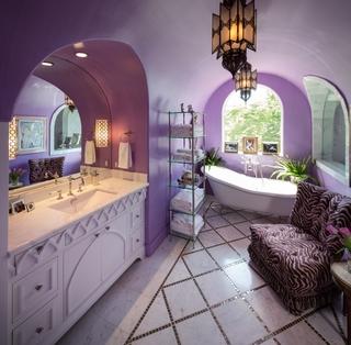 混搭奢华设计效果图卫生间