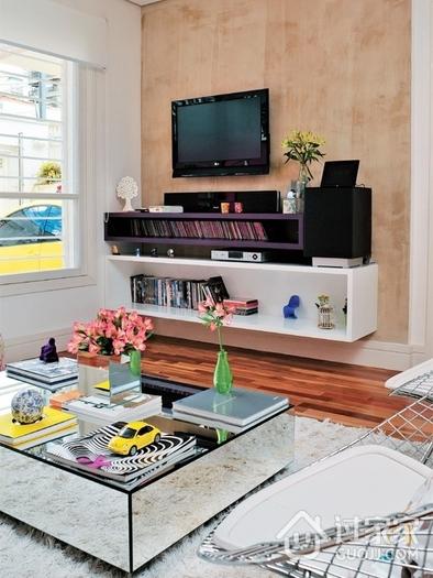 明快色彩撞色复式欣赏客厅