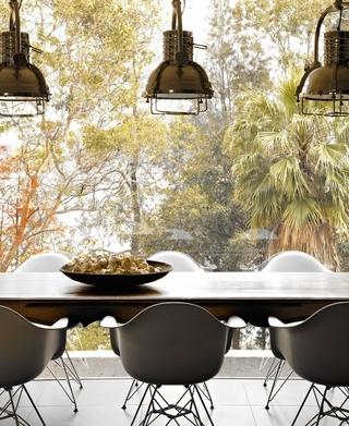 透气性现代住宅欣赏餐厅