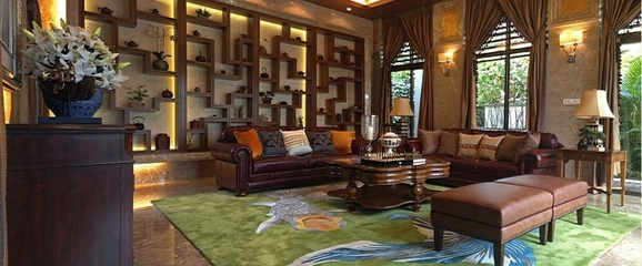 沉稳东南亚风格住宅欣赏书房