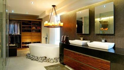 128平现代复式住宅欣赏卫生间设计