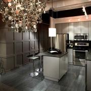 现代风住宅装修图开放厨房