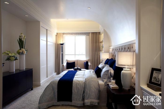 新古典三居室样板房案例欣赏主卧衣柜