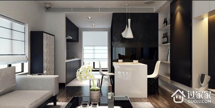 105平现代三居室案例欣赏客厅窗户