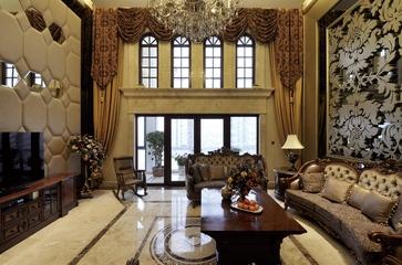 欧式风格复式楼客厅效果图设计