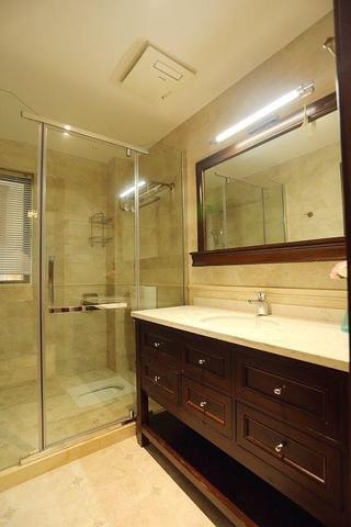 卫生间浴室柜装修图 美式格调