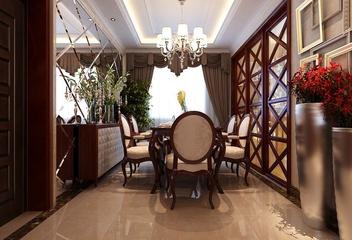 117平混搭风格住宅欣赏餐厅