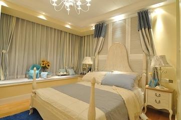 81平田园风格三居室欣赏卧室