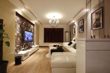 80平简约两居室欣赏客厅设计