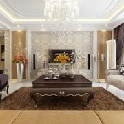 奢华新古典四居室欣赏客厅效果图