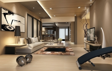 精致家装 摩登现代客厅吊顶效果图