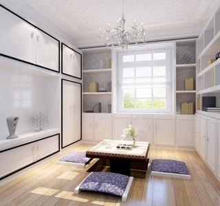 简欧风白色住宅欣赏茶室