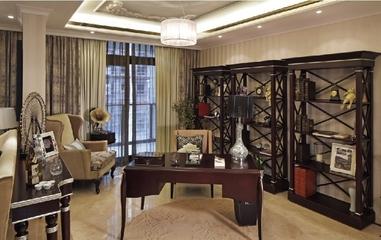 奢华新古典风格欣赏书房吊顶设计