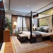 复古新中式风 卧室衣柜装修效果图