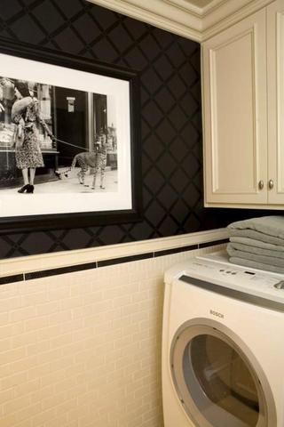 简欧装饰效果赏析洗衣间背景墙