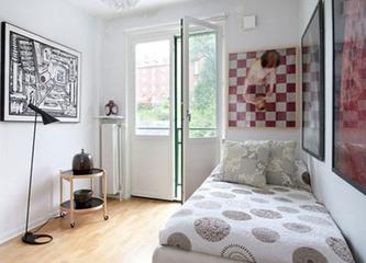 白色北欧住宅欣赏卧室摆件