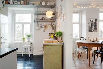 66平白色北欧住宅欣赏厨房效果