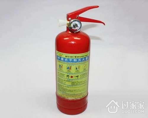 手提式干粉灭火器的使用方法