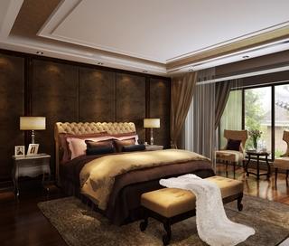 奢华新中式别墅欣赏卧室