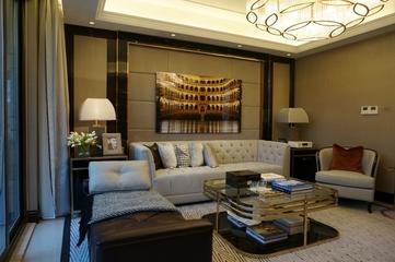 新古典低调样板间欣赏客厅背景墙