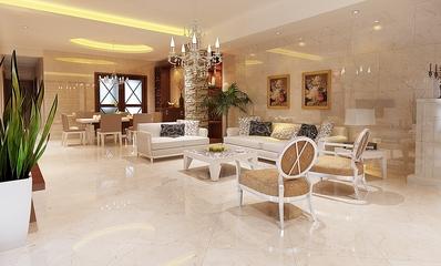 现代简约风格客厅沙发装修效果图