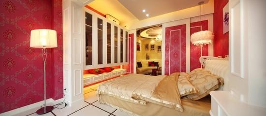 现代个性艳丽设计欣赏卧室局部
