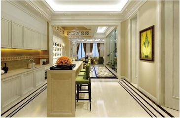 低调奢华简欧住宅欣赏厨房吧台