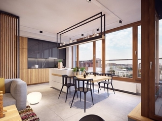 开放式厨房餐厅设计效果图 现代时尚的美