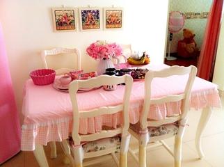粉色田园公主屋欣赏餐厅