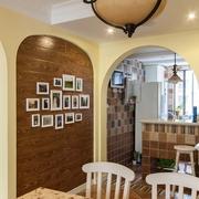 田园风格餐厅照片墙装饰图