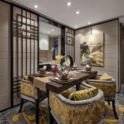 75平中式二居室装修效果