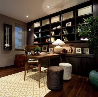 东南亚写意两居室欣赏书房