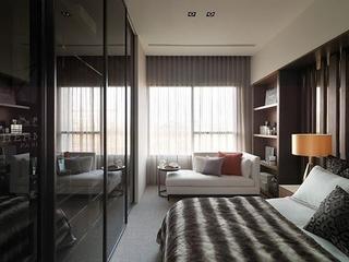 76平现代风两居室欣赏卧室窗帘