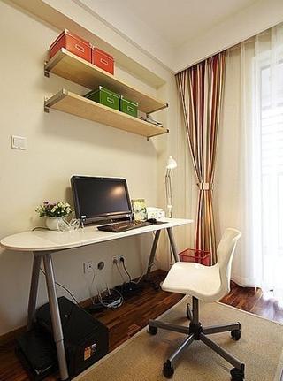 70平美式雅居住宅欣赏书房