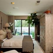 卧室木质衣柜效果图