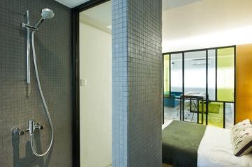 37平现代风住宅欣赏卫生间背景墙