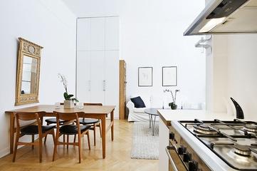 白色北欧单身住宅欣赏