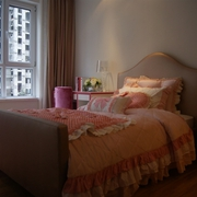 简约风格卧室窗户装修 梦幻公主风