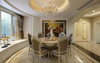 145平奢华欧式欣赏餐厅设计