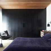 白色现代复古跃层欣赏卧室