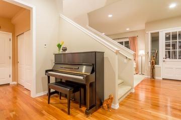 美式田园风格欣赏楼梯钢琴