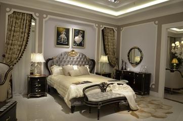 法式风三居住宅欣赏卧室背景墙