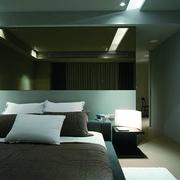 现代白色单身公寓设计卧室效果