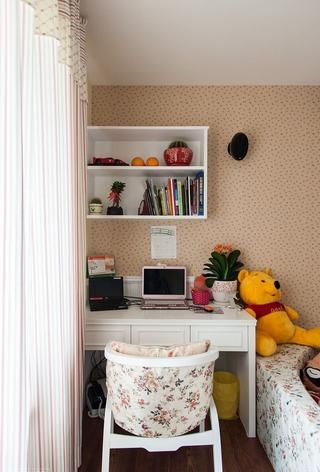 田园卧室书桌架装修效果图 温馨浪漫家居