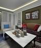 98平简欧风格住宅欣赏客厅陈设