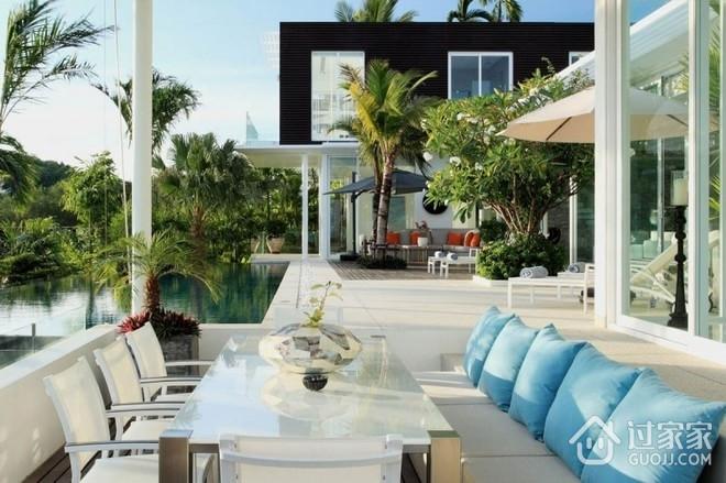 现代度假休闲别墅欣赏露台设计