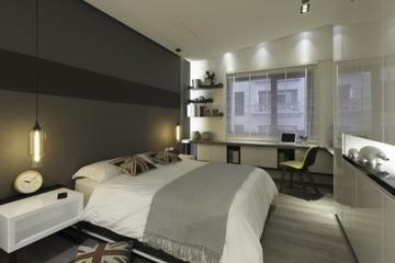 现代住宅空间效果图赏析卧室局部