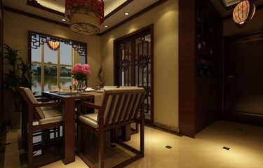 典雅中式风餐厅灯饰效果图