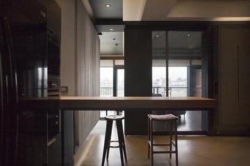 78平现代风两居室欣赏过道效果