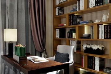 110平奢华现代住宅欣赏书房书架